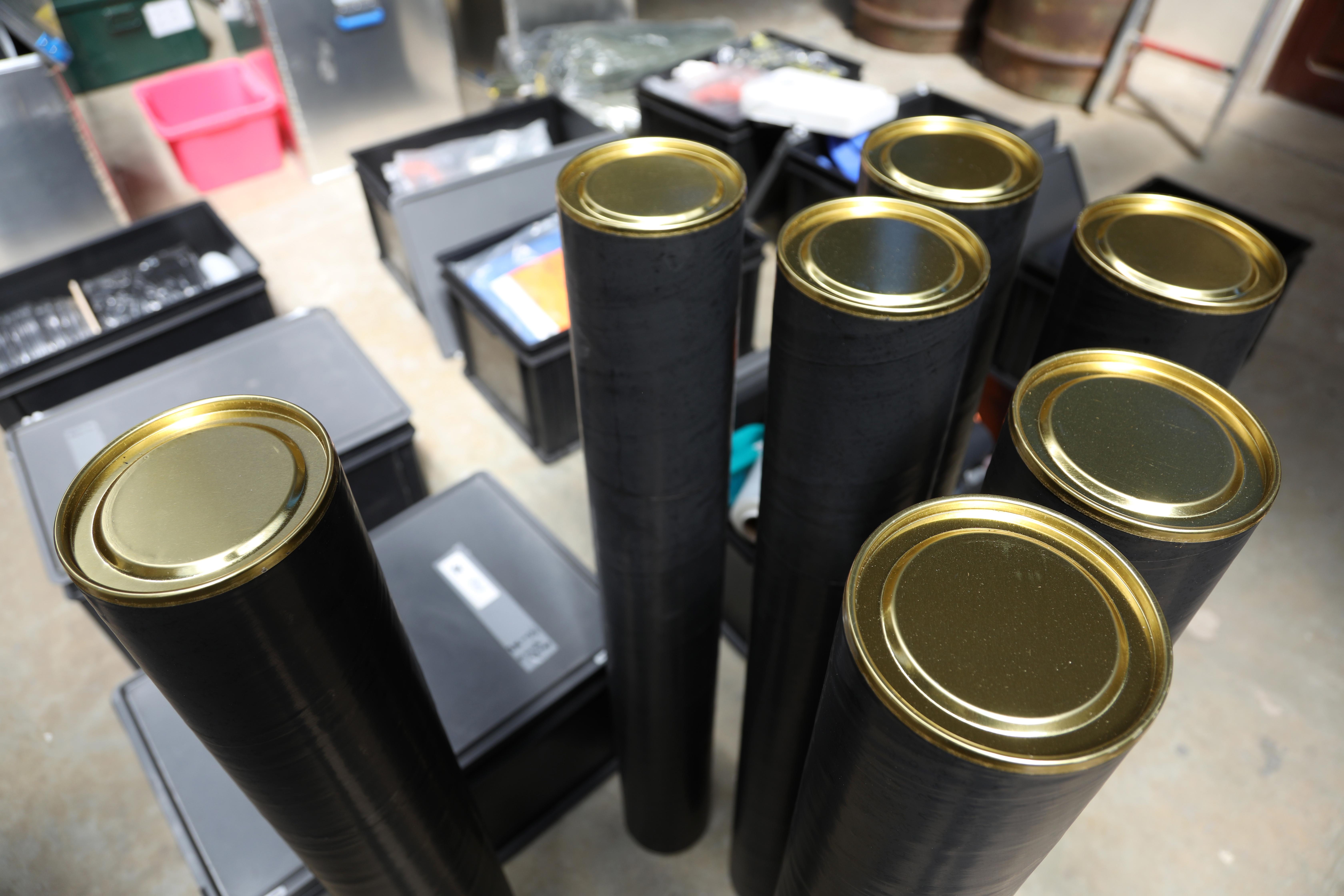 Les tubes pour emballer les carottes ©Sarah Del Ben/Wild Touch/Fondation UGA