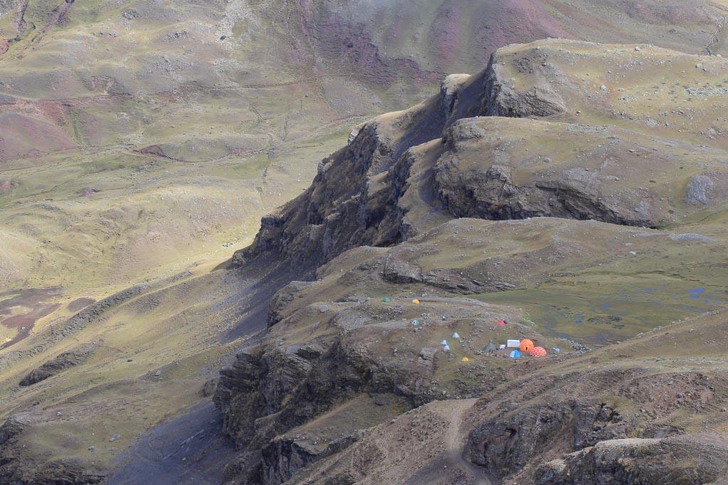 Vue du camp intermédiaire