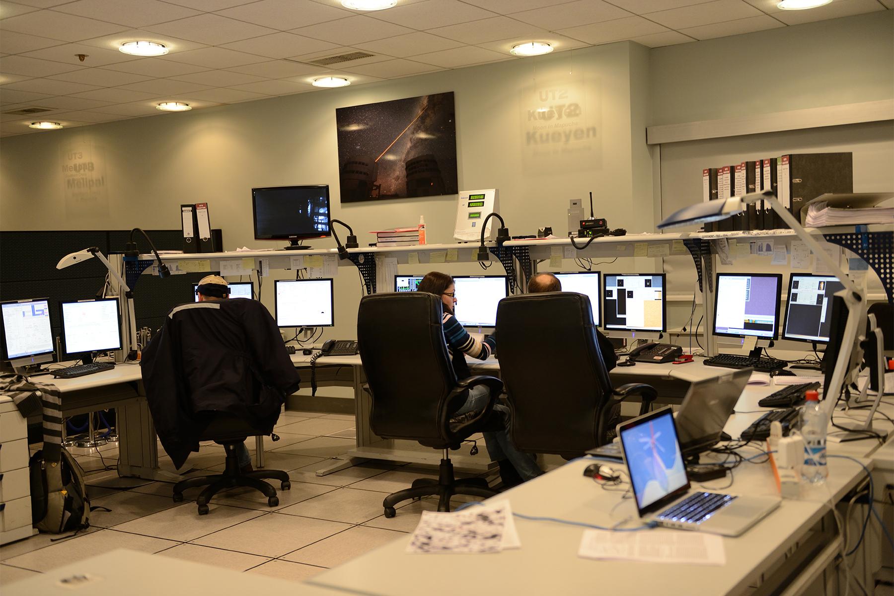 Salle de contrôle du VLT © Patricio Pardo Avalos