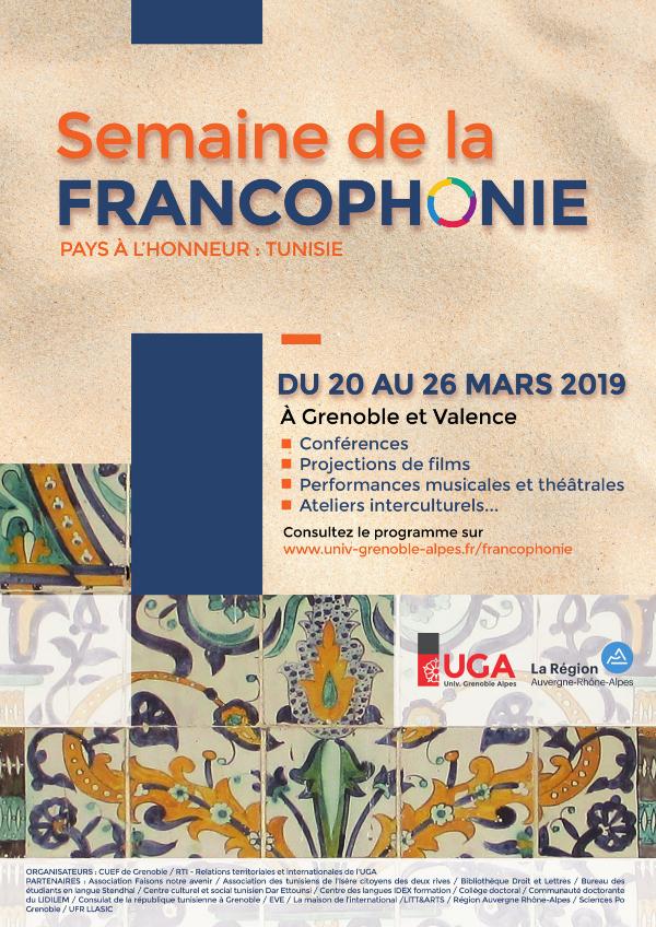 Affiche Semaine de la francophonie