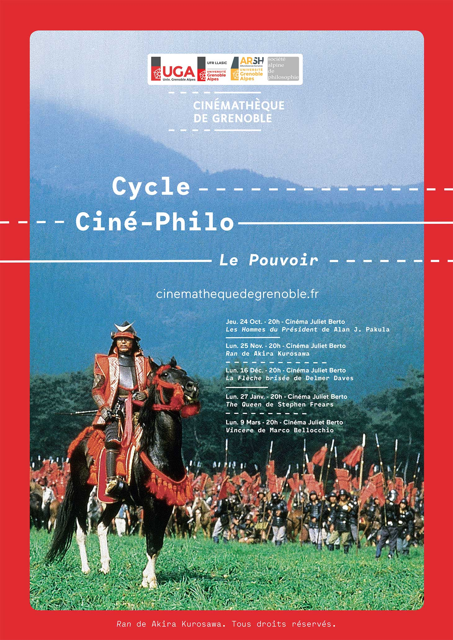 Affiche du cycle Ciné-Philo