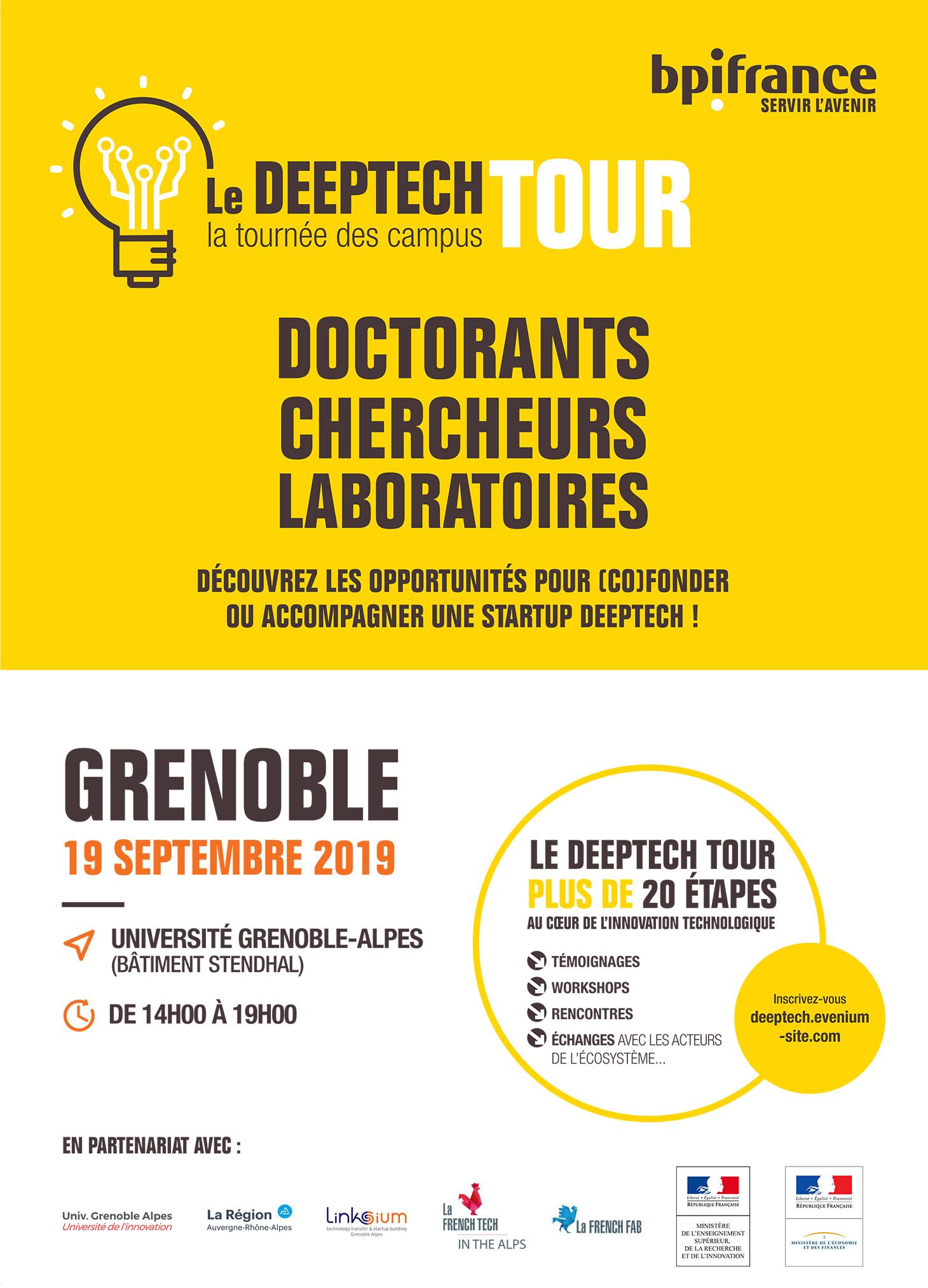 Affiche Deeptech Tour