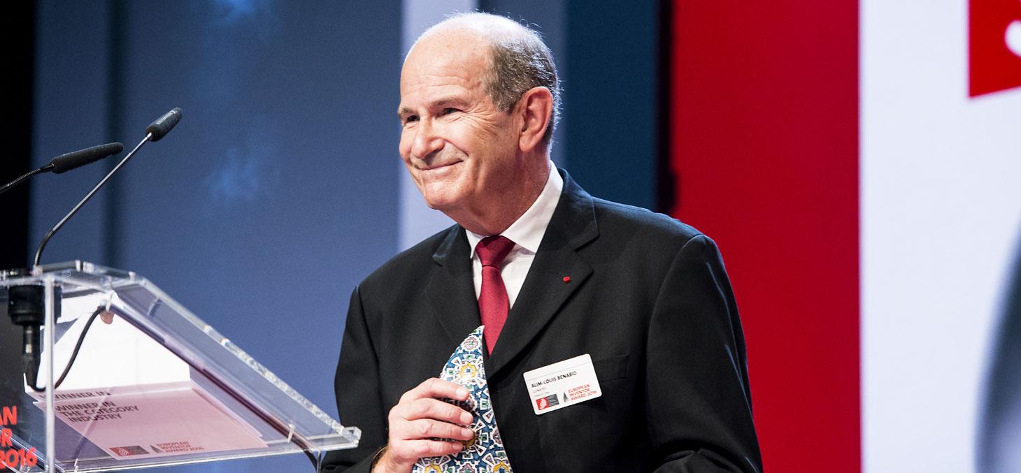 Alim-Louis Benabid lauréat du Prix de l'inventeur européen 2016. © OEB