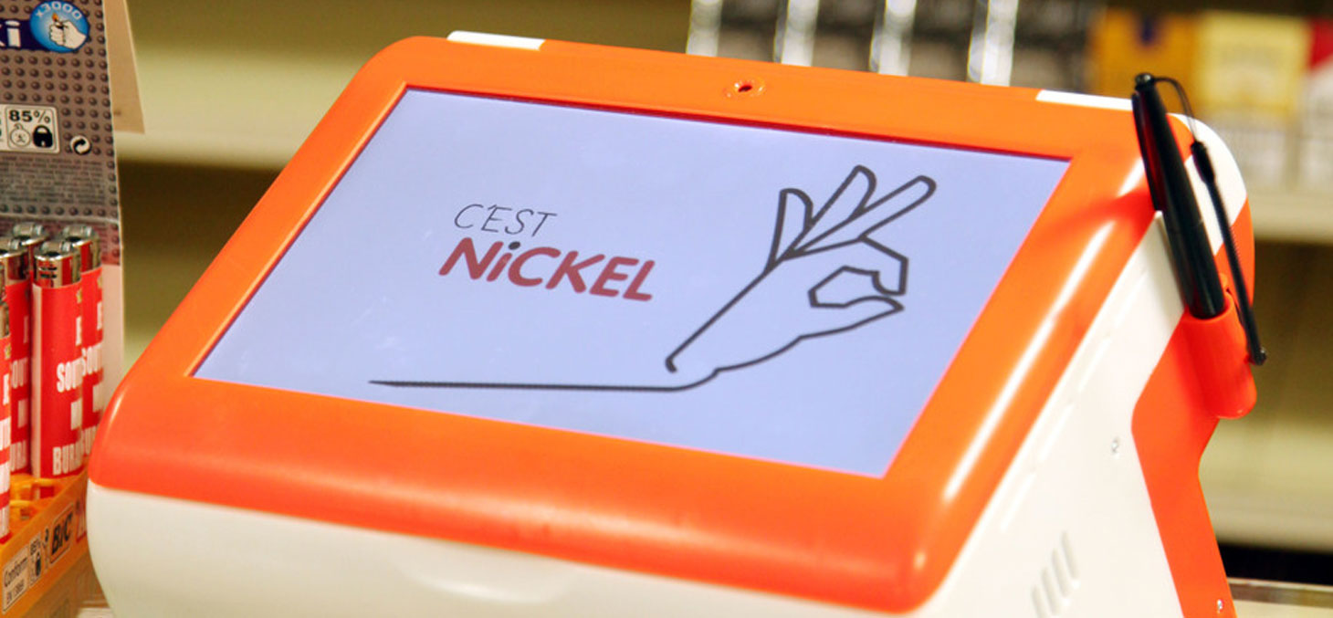 Le Compte Nickel dans un bureau de tabac