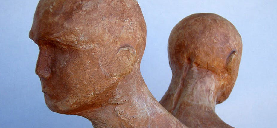 Pareja (Couple), sculpture en plâtre de Daquella Manera. © Daniel Lobo / Flickr, CC BY