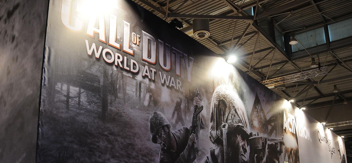 Présentation de Call of Duty à la Leipzig Games Convention 2008 © Kuba Bożanowski / Flickr, CC BY