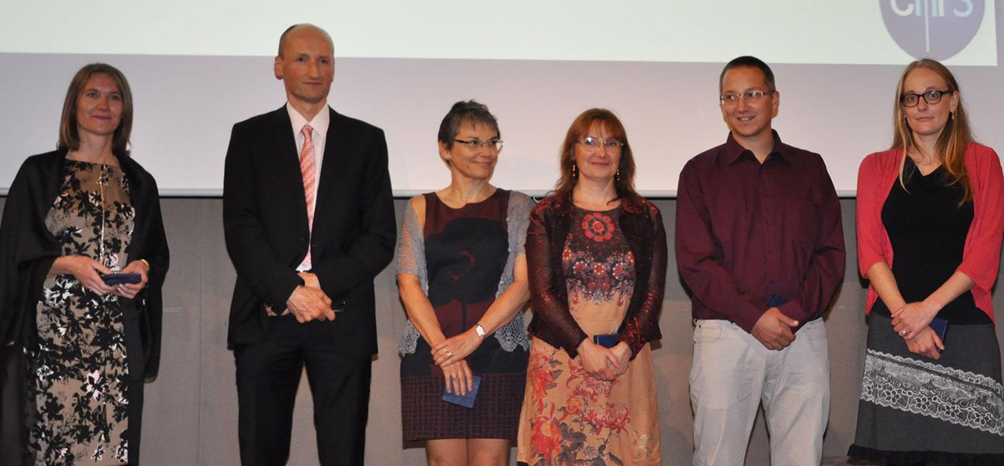 Les lauréats lors de la cérémonie © Communication CNRS Alpes