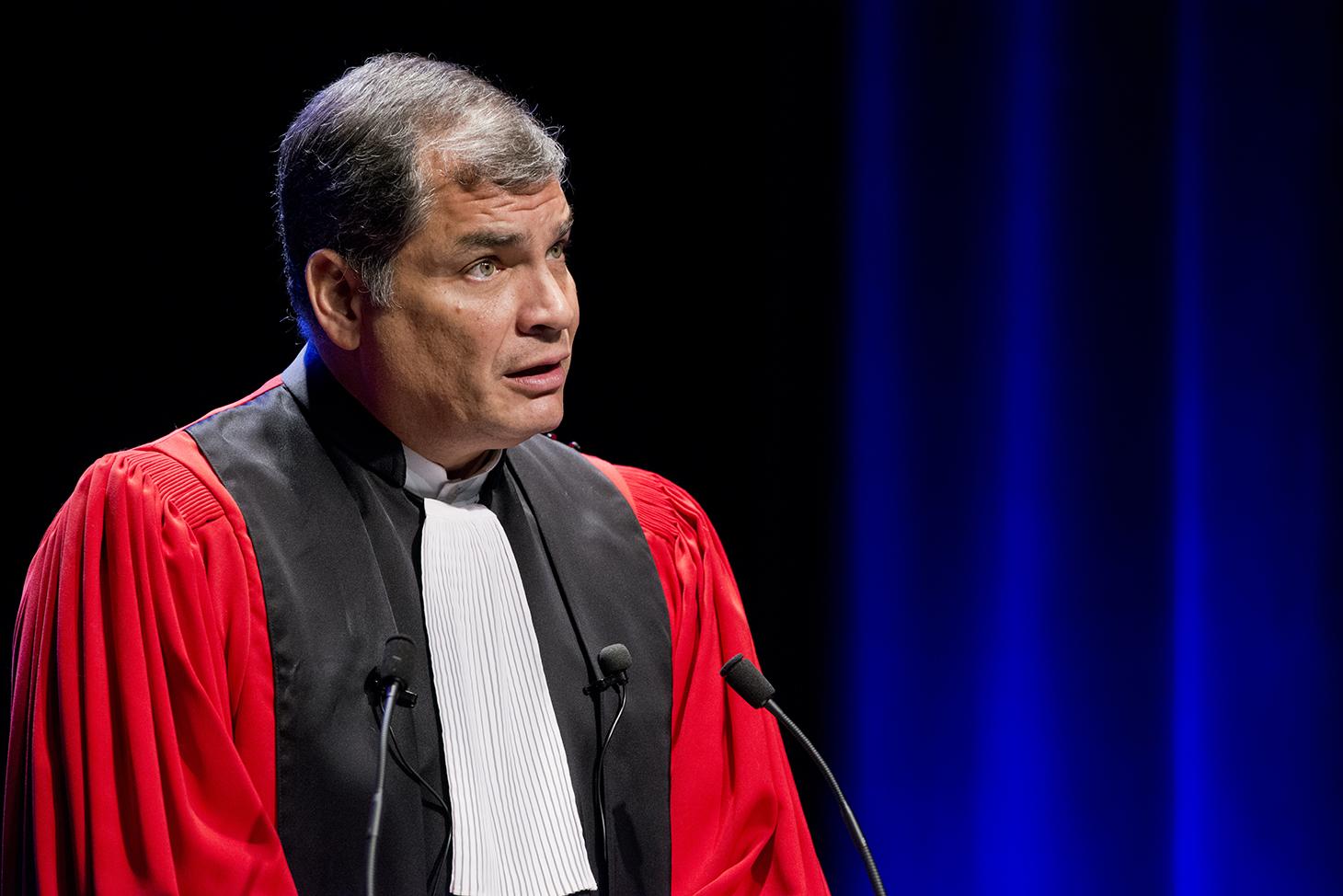 Réponse du récipiendaire Rafael Correa