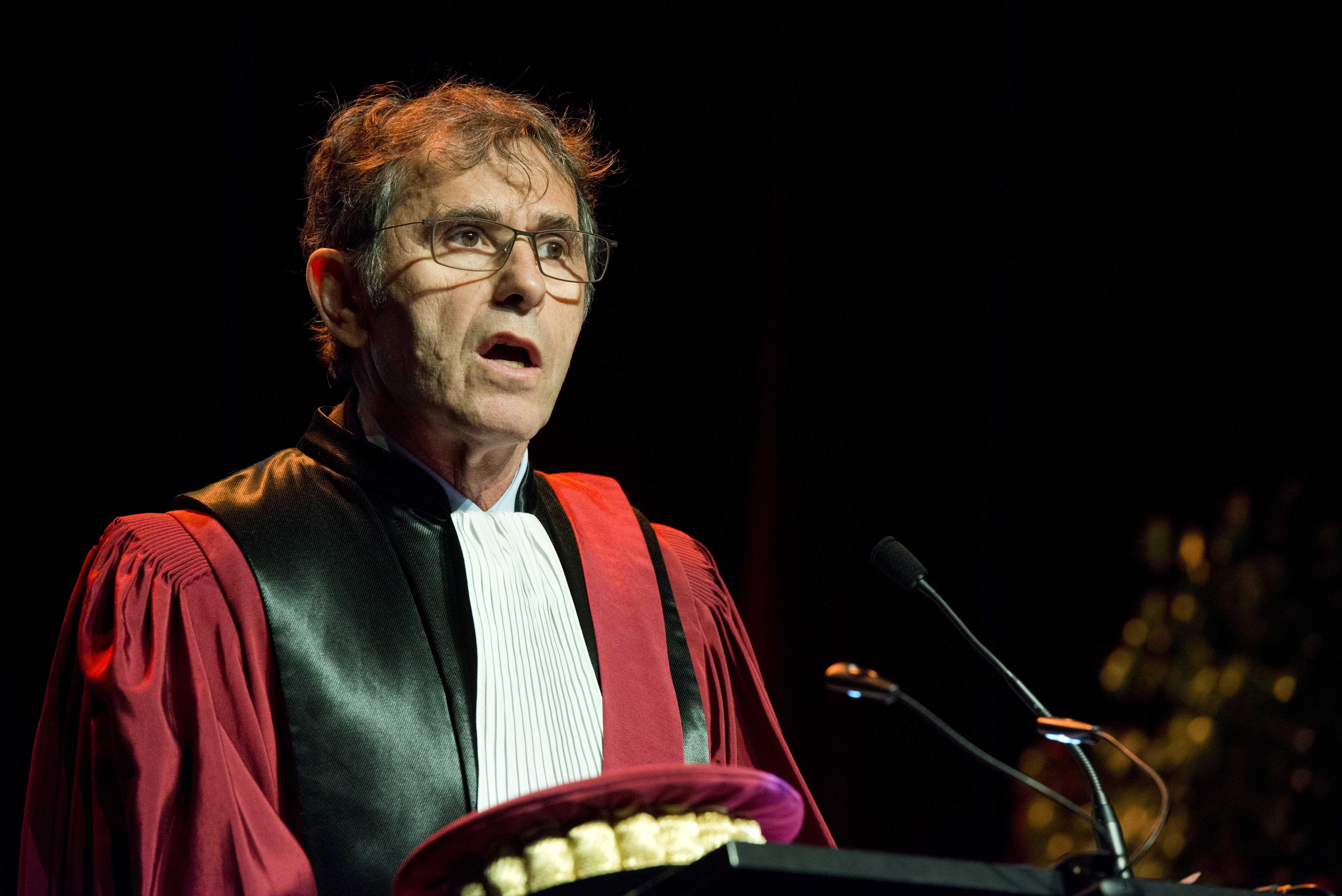 Ouverture de la cérémonie par Patrick Lévy, président de l'UGA