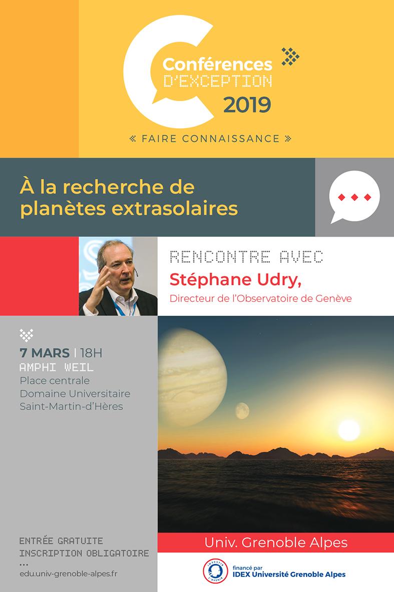 Affiche conférence d'exception Udry