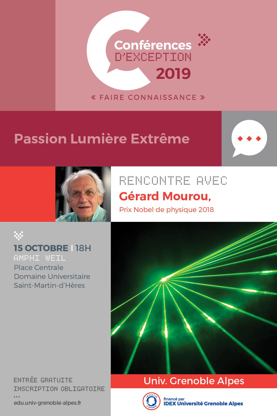 Conférence de Gérard Mourou