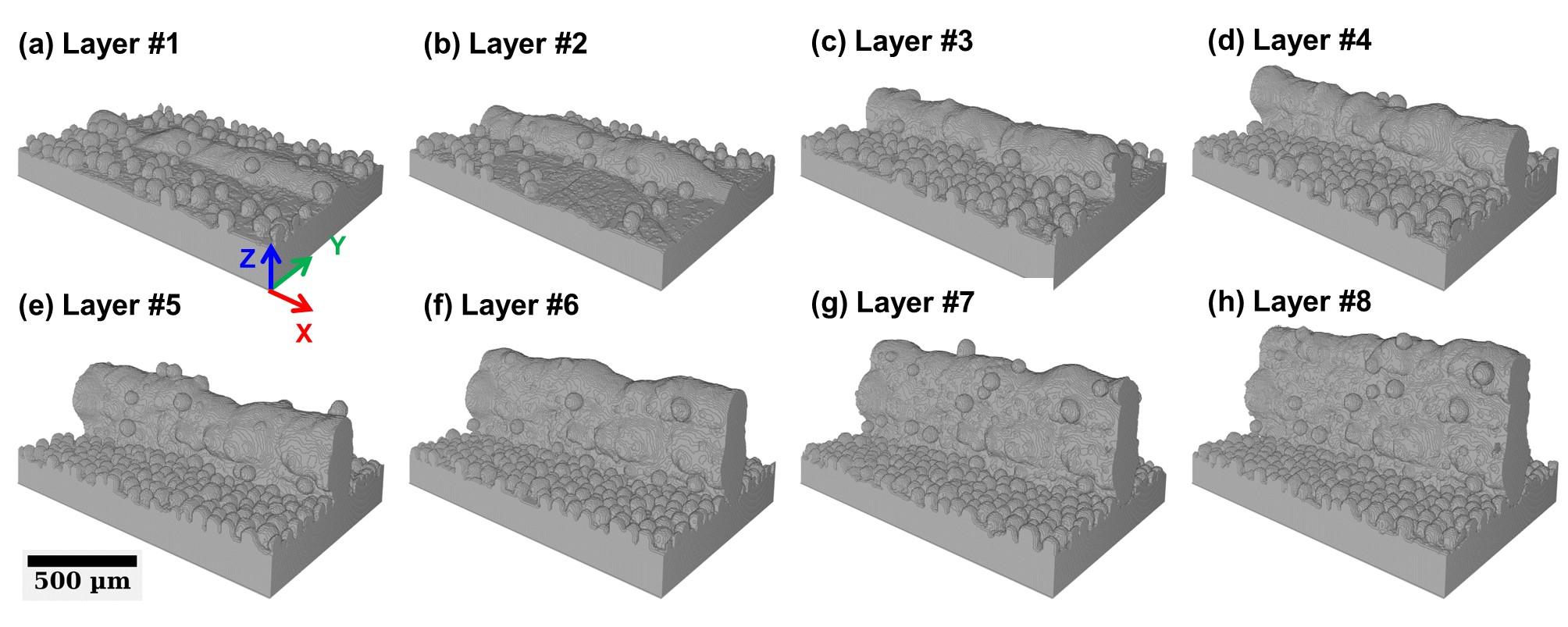 Image 3D d'un mur en construction