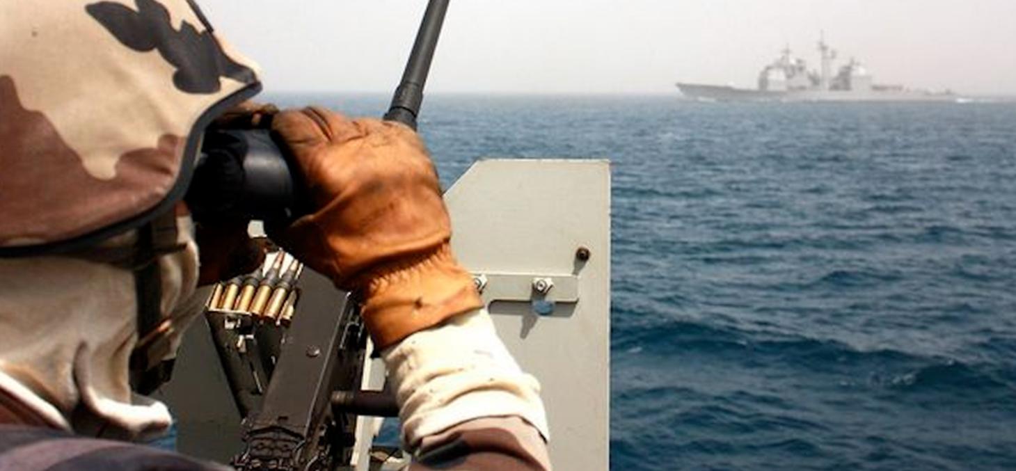 Un soldat de l'opération Atalante, menée par l'Union européenne au large de la Somalie. Ministère de la Défense/DR