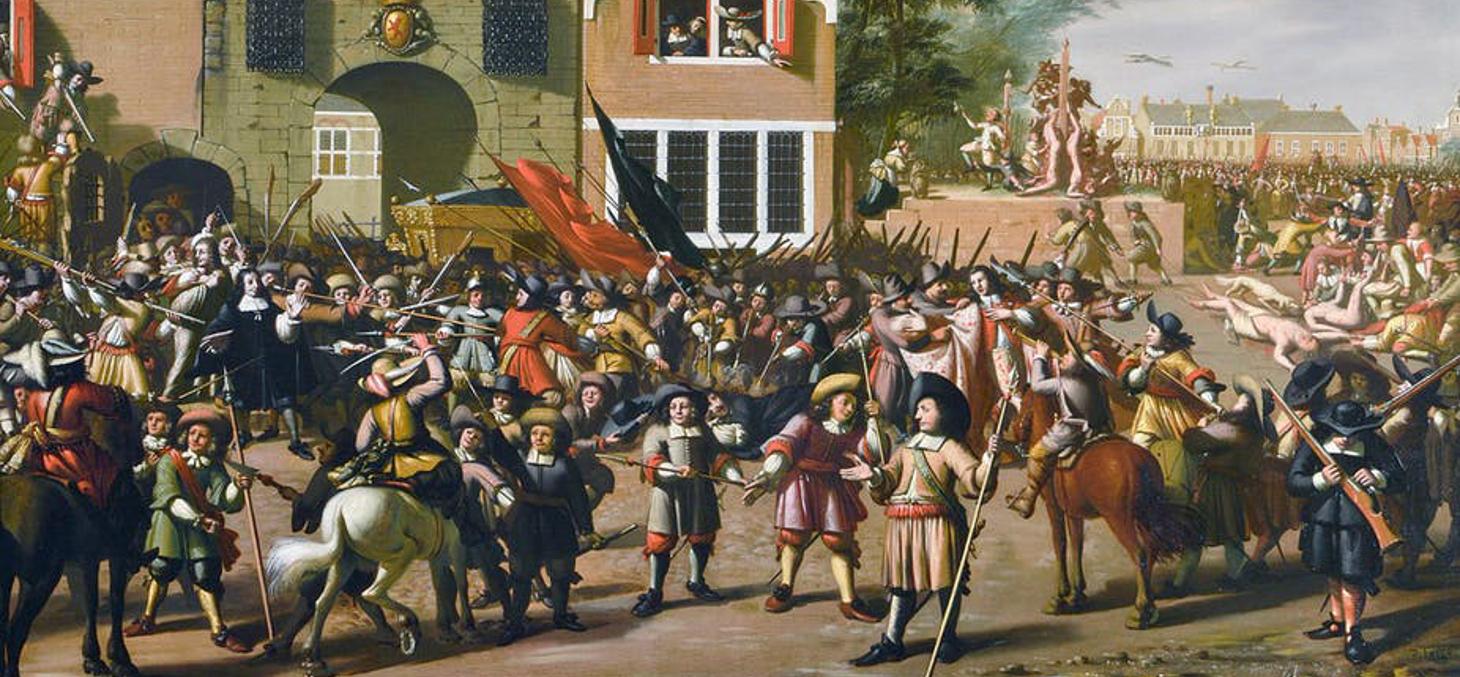 Le 20 août 1672, dans une atmosphère d'hystérie collective, les frères Jan et Cornelis De Witt, que Spinoza aimait et admirait, sont massacrés. Haags Historisch Museum/DR