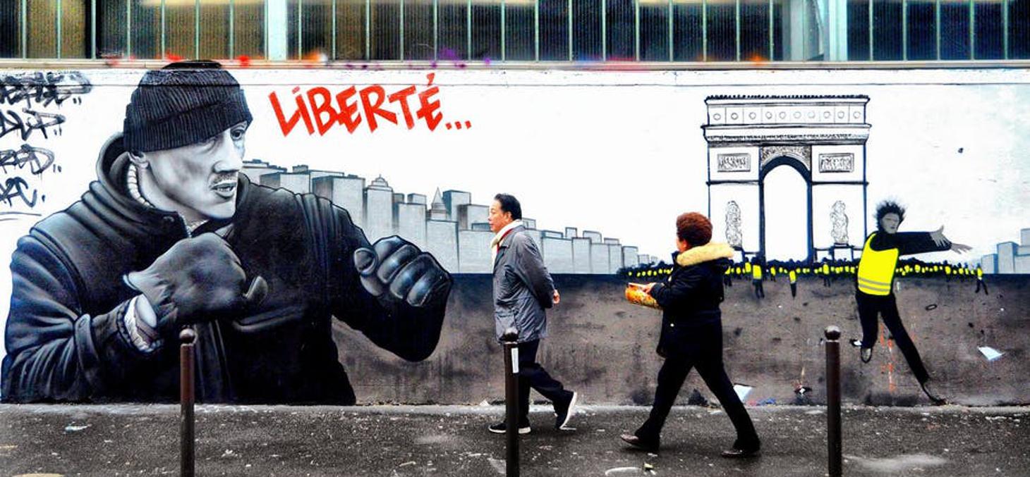 Christophe Dettinger est devenu un symbole du mouvement des « gilets jaunes ». Mamasuco/Flickr, CC BY-NC-SA
