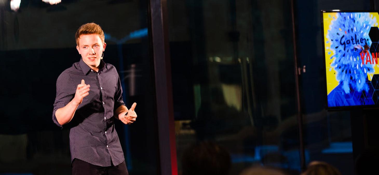 L'enjeu du pitch pour l'entrepreneur : convaincre, séduire ou mourir. Marjory Haringa/TEDx Haarlem, CC BY-SA