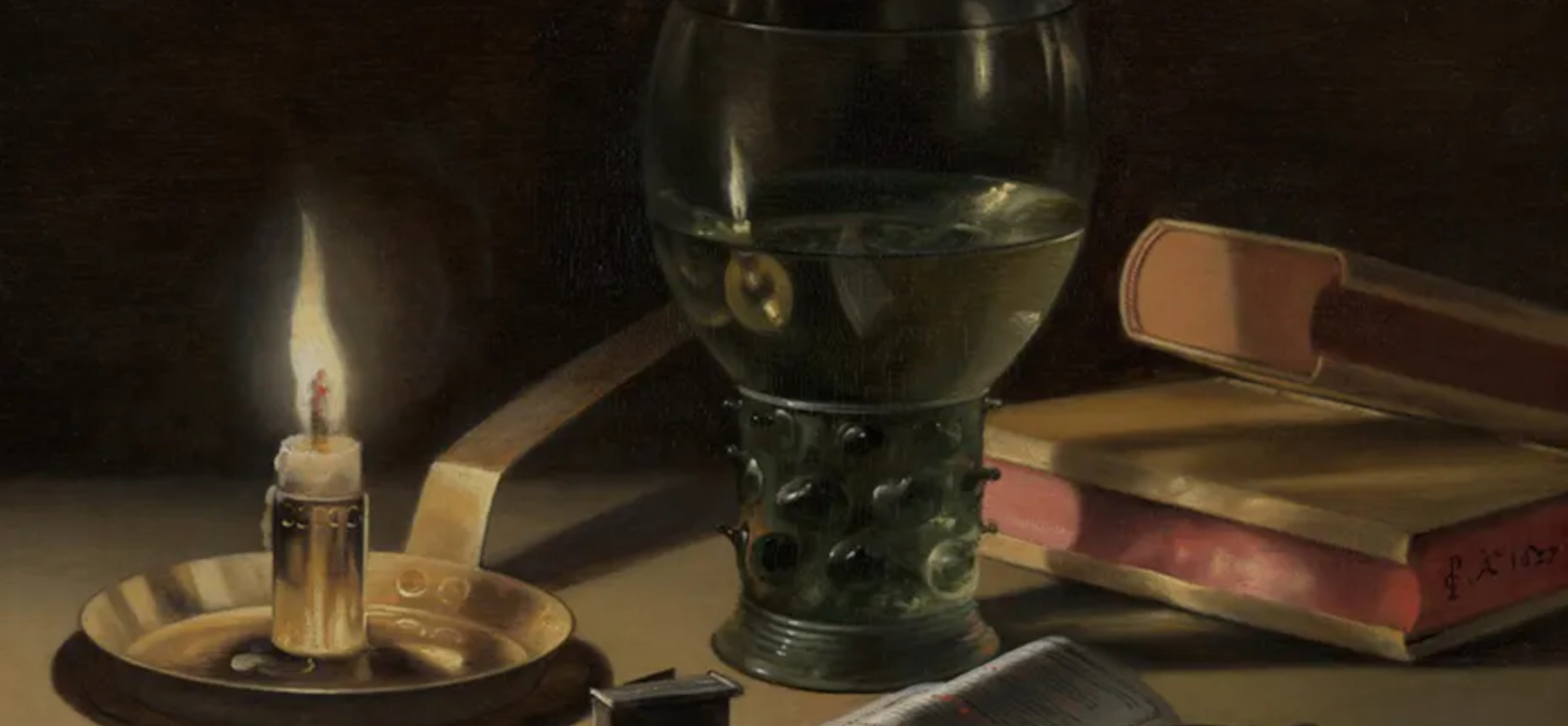 Nature morte à la bougie, Peter Claesz, 1627. Site du Mauritshuis.