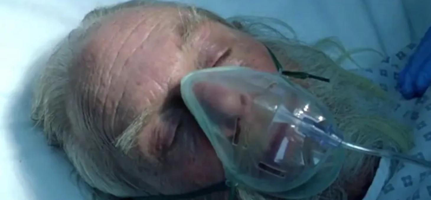 Extrait de la communication montrant le Père Noël hospitalisé, retirée depuis. Capture d'écran.
