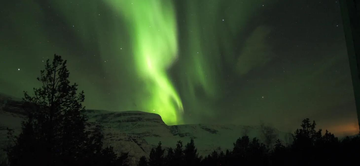 Une aurore vue depuis Skibotn, en Norvège, en mars 2017. Thierry Sequies (CSUG/UGA), Author provided