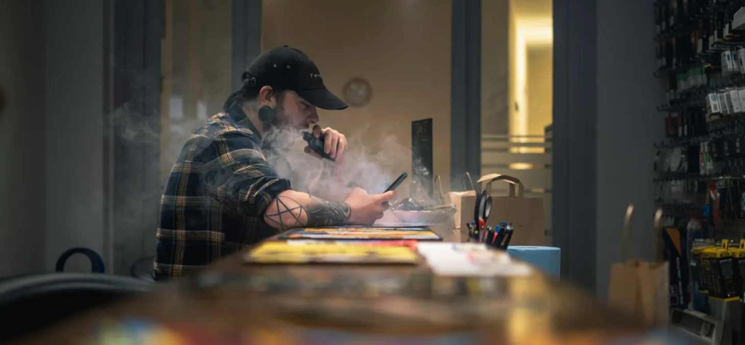 La vape est un substitut efficace pour se sevrer du tabac. Unsplash