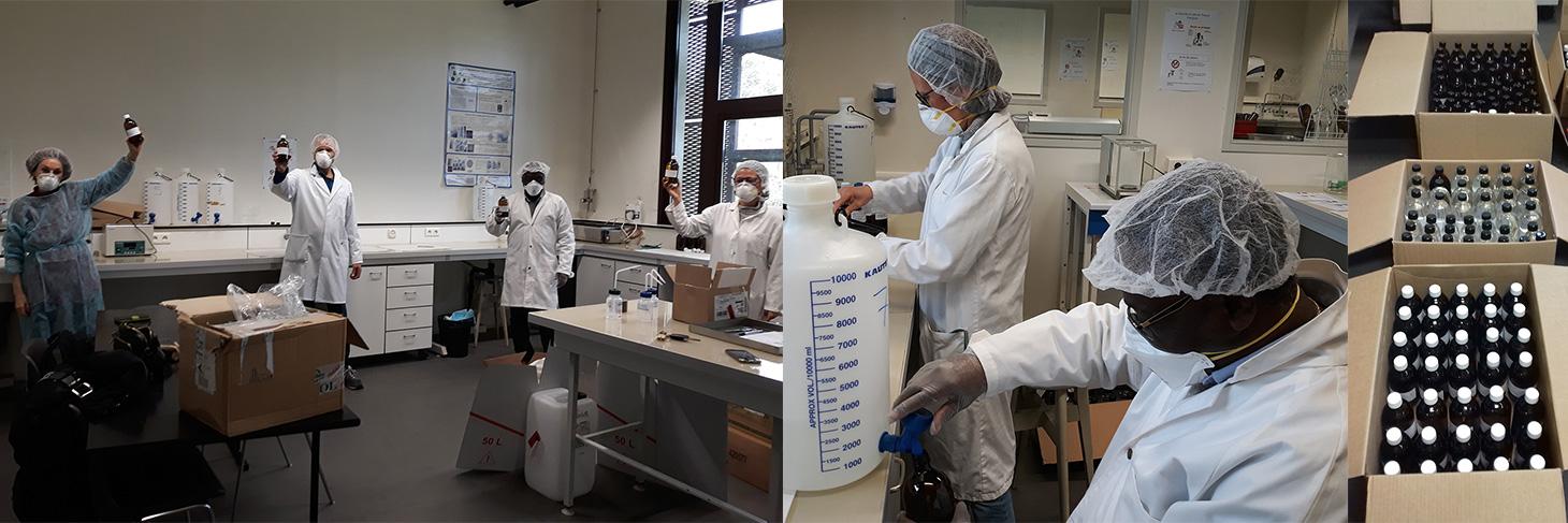 Production de solution hydro-alcoolique par le DPM