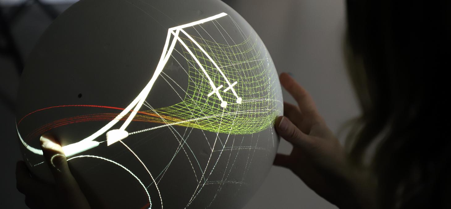 Sphère d'interaction en réalité augmentée - © DirCom / T. Morturier