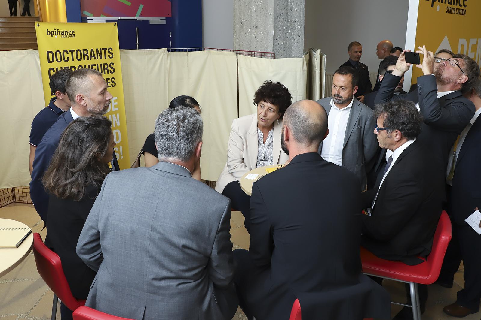 Lancement du Deeptech Tour à l'Université Grenoble Alpes en prénsence de la ministre Frédérique Vidal