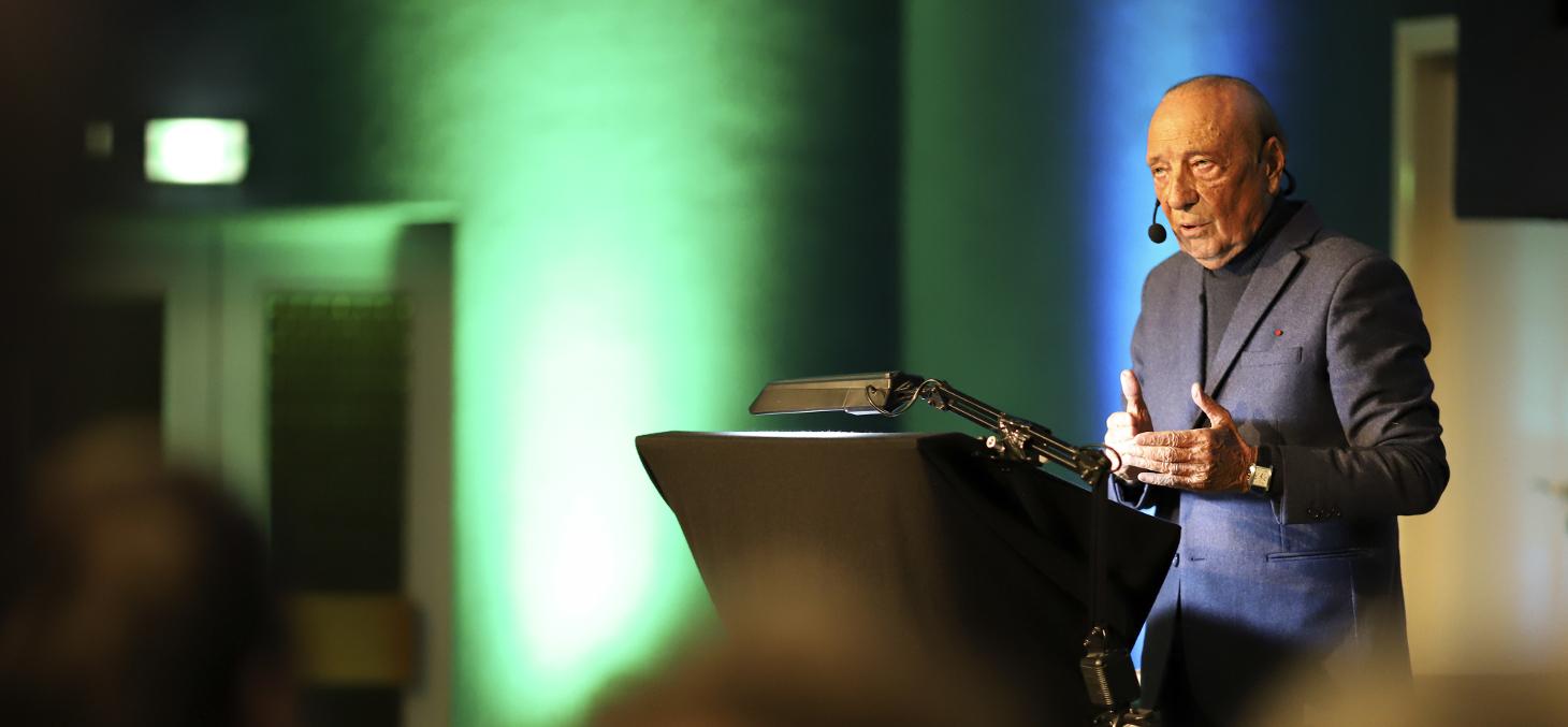 Jacques Séguéla lors de la conférence du 25 mars 2019