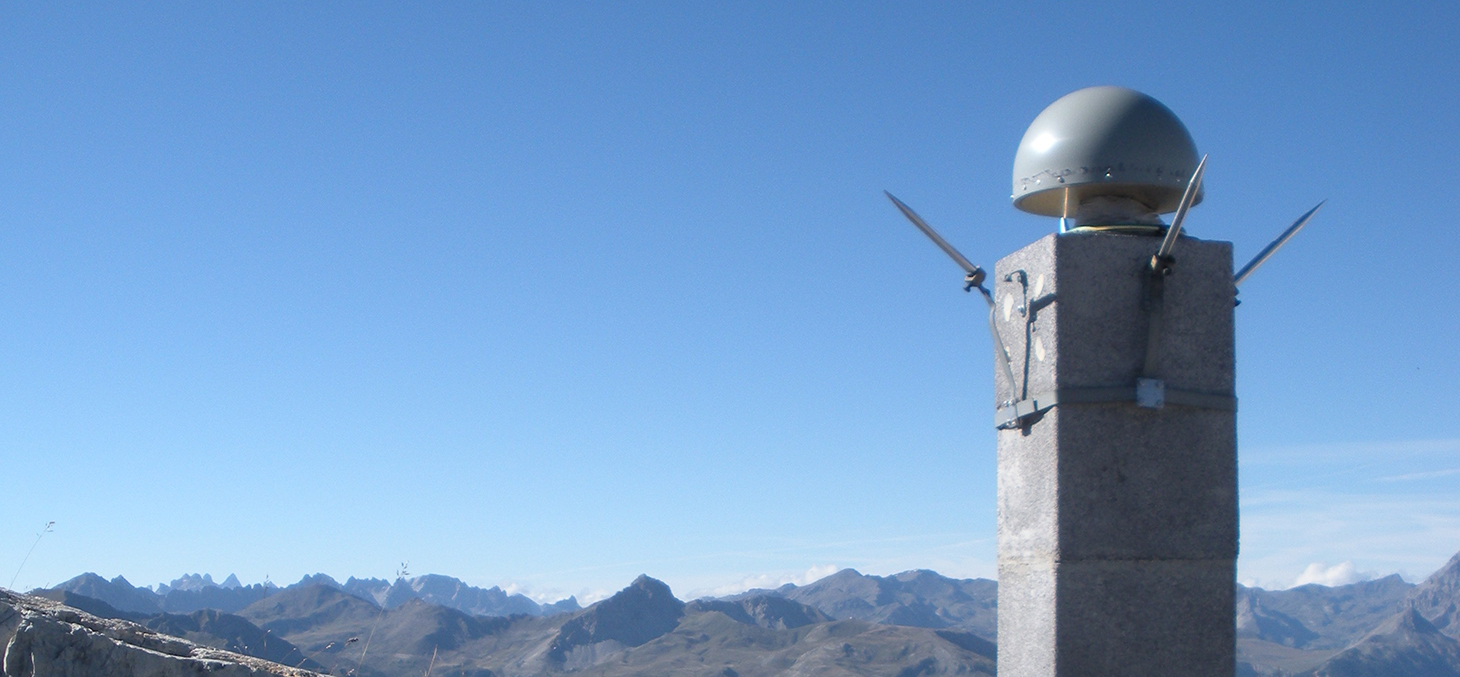 Mesures GPS de la déformation des Alpes