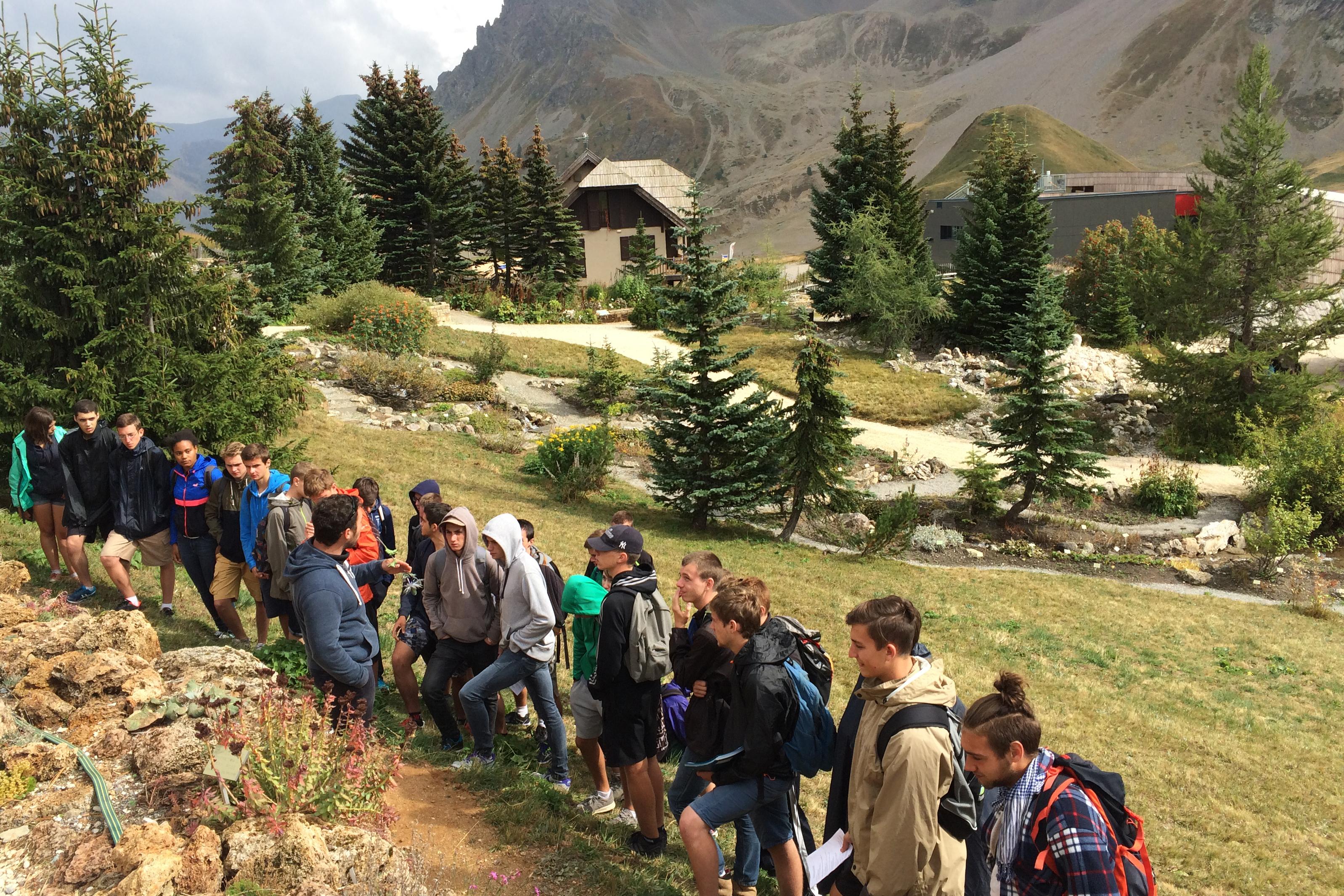 """Le Jardin du Lautaret accueille des lycéens dans le cadre de sa mission """"Diffusion des savoirs""""."""