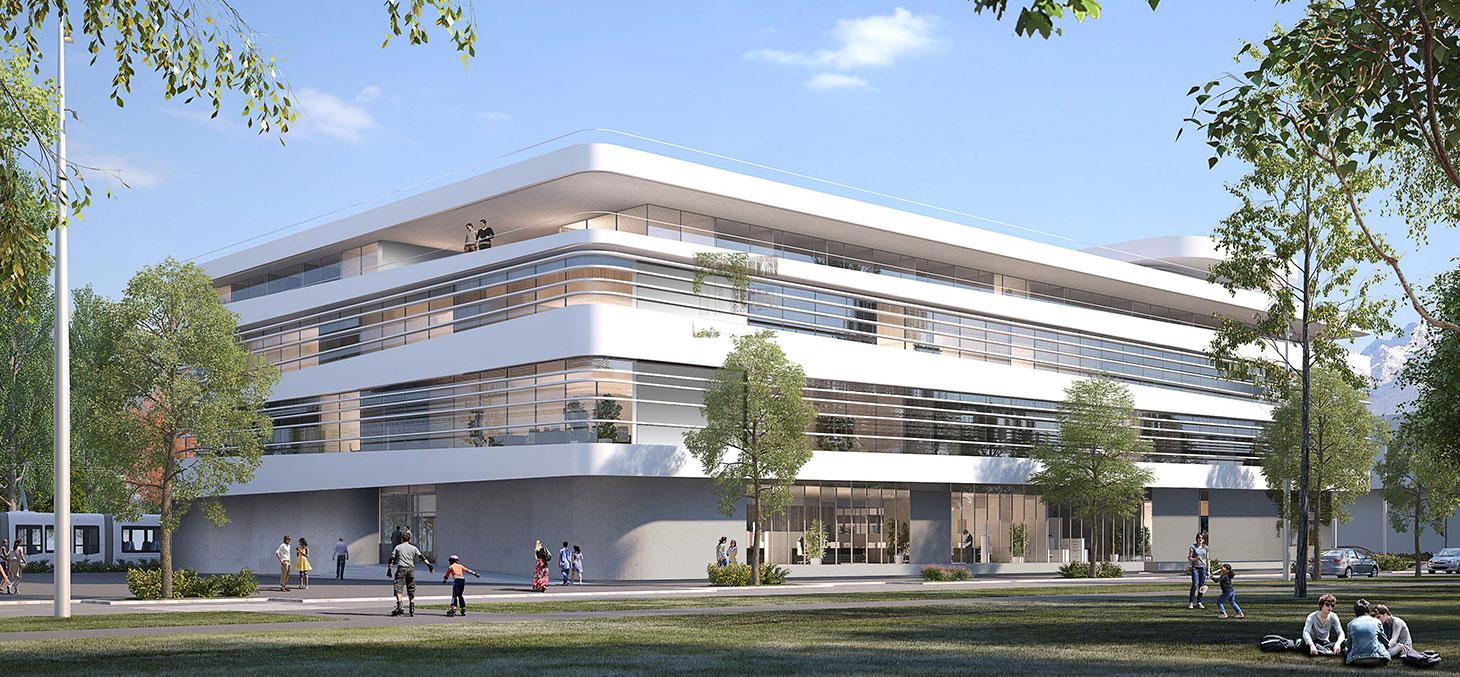 Maison de la création et de l'Innovation (MaCI) © Jacques Ripault Architecture
