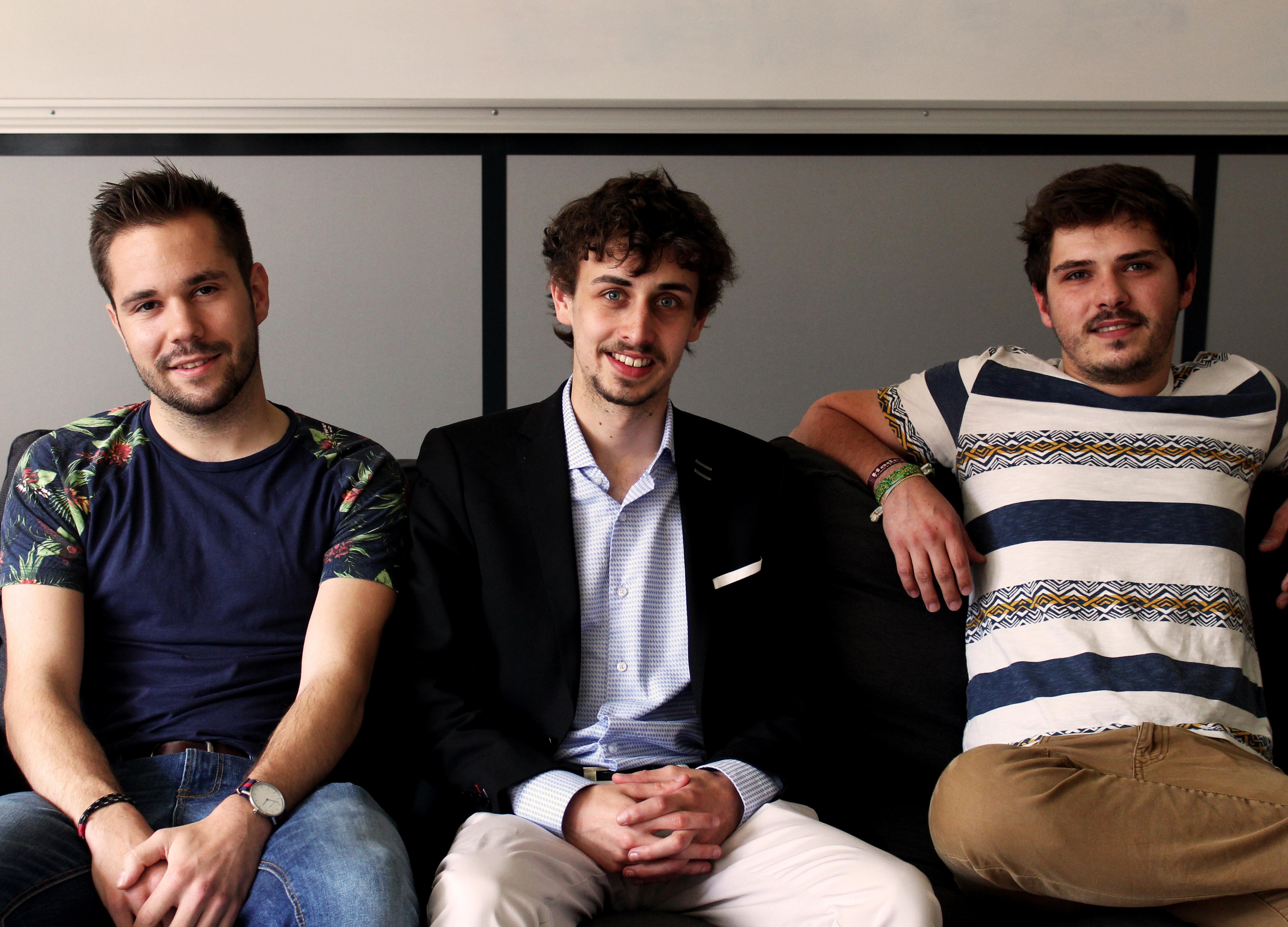 Les trois fondateurs d'OpenCar