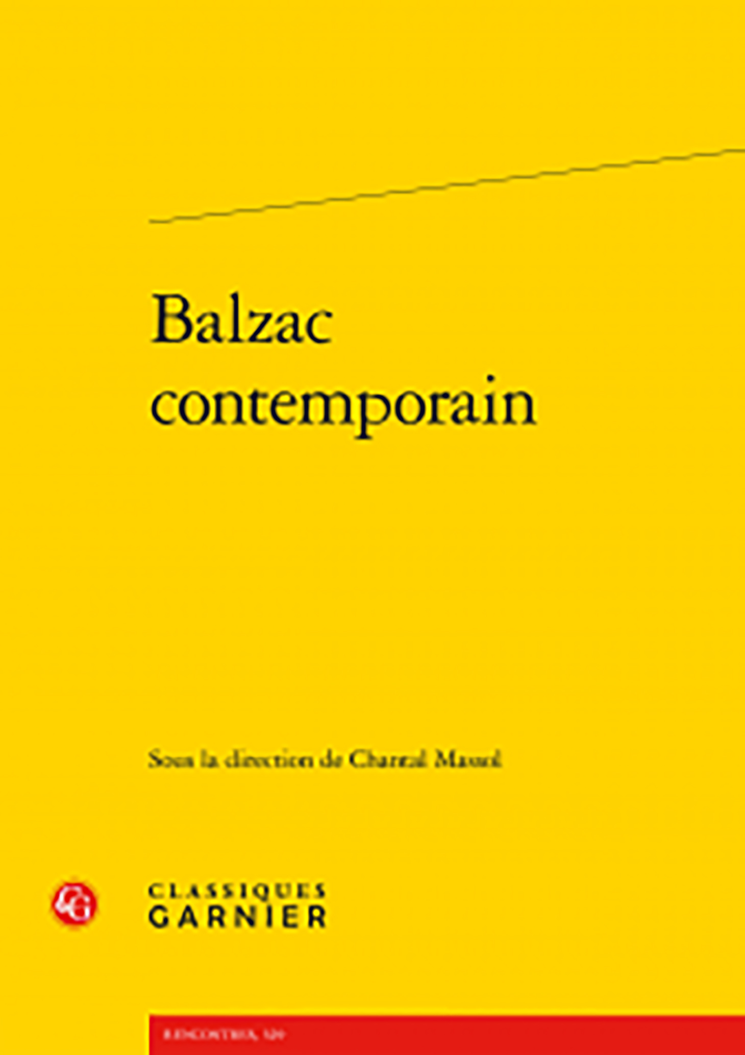 couverture de Balzac contemporain sous la direction de Chantal Massol