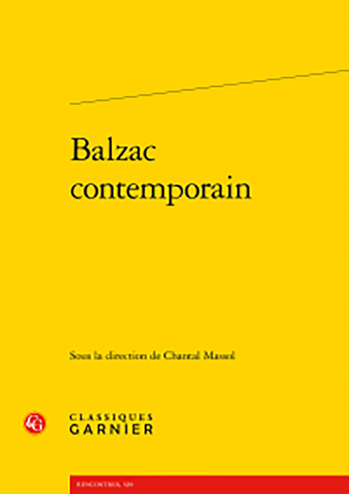 couverture de Balzac contemporain sous la direction de Chantal Massol