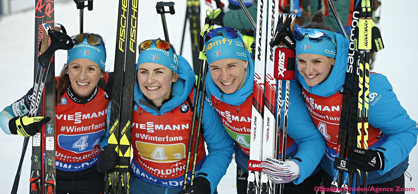 Anaïs Chevalier, Justine Braisaz, Anaïs Bescond et Julia Simon ©Stanko Gruden/Agence Zoom