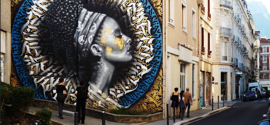 'L'arme de paix', Péripéties urbaines - Grenoble - 06/2016.  © benoitfayol / Flickr, CC BY