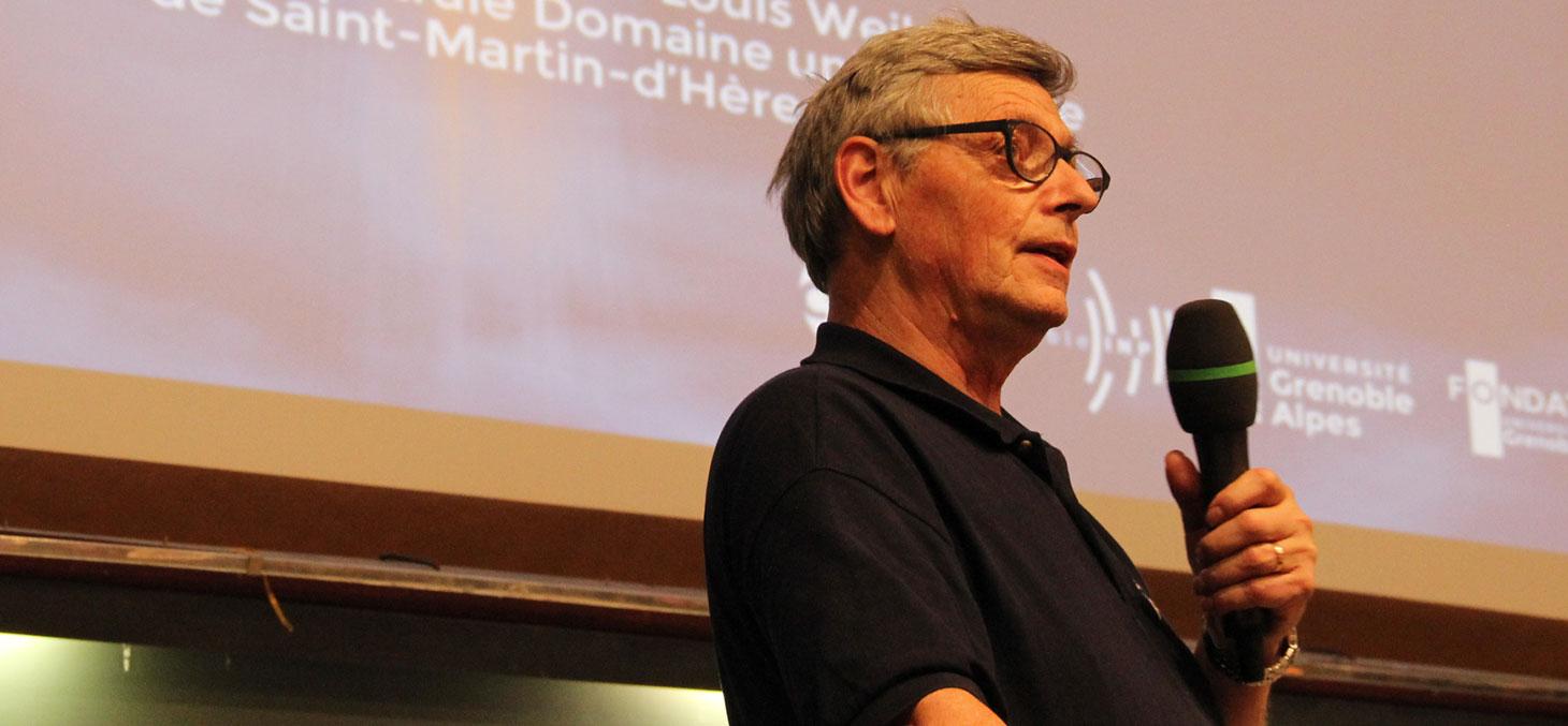 Jean-Jacques Favier lors de la conférence le 24 mars 2016