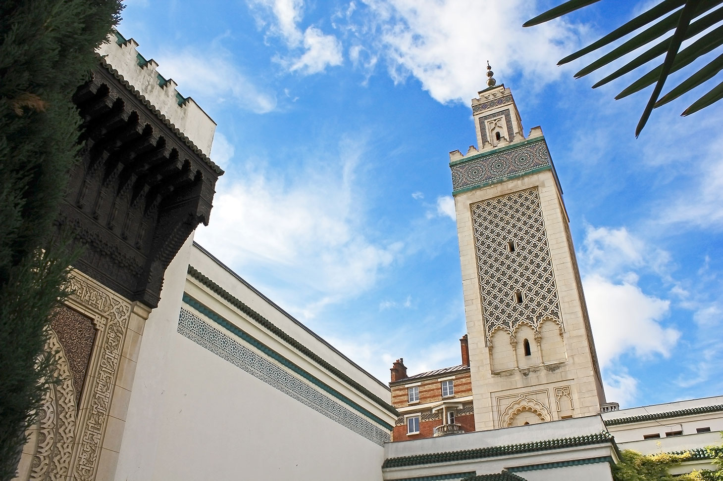 Vue depuis la cour intérieure de la Grande mosquée de Paris. youssef errami/Flickr, CC BY-NC