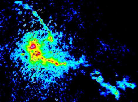 L'amas d'étoiles en formation W43-MM1 © ESO/ALMA/F. Motte/T. Nony/F. Louvet/Nature Astronomy