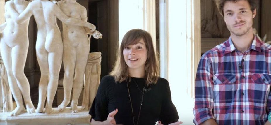 Collaboration entre le Musée du Louvre et deux youtubeurs, Dirtybiology et C'est une autre histoire. © Youtube